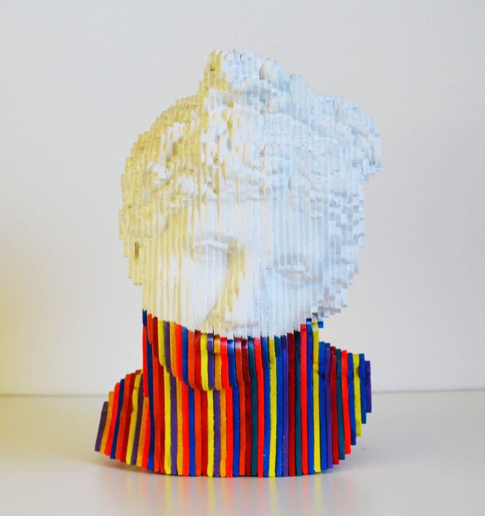 Daniele Fortuna, Aphrodita, drvo_wood, 30x23x22 cm, 2018