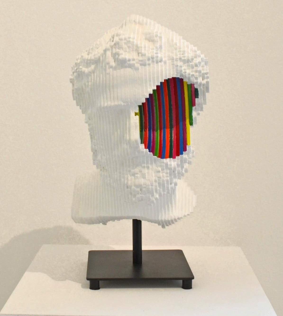 Daniele Fortuna ,Colormination inside, wood, 25x20x19cm, 2017