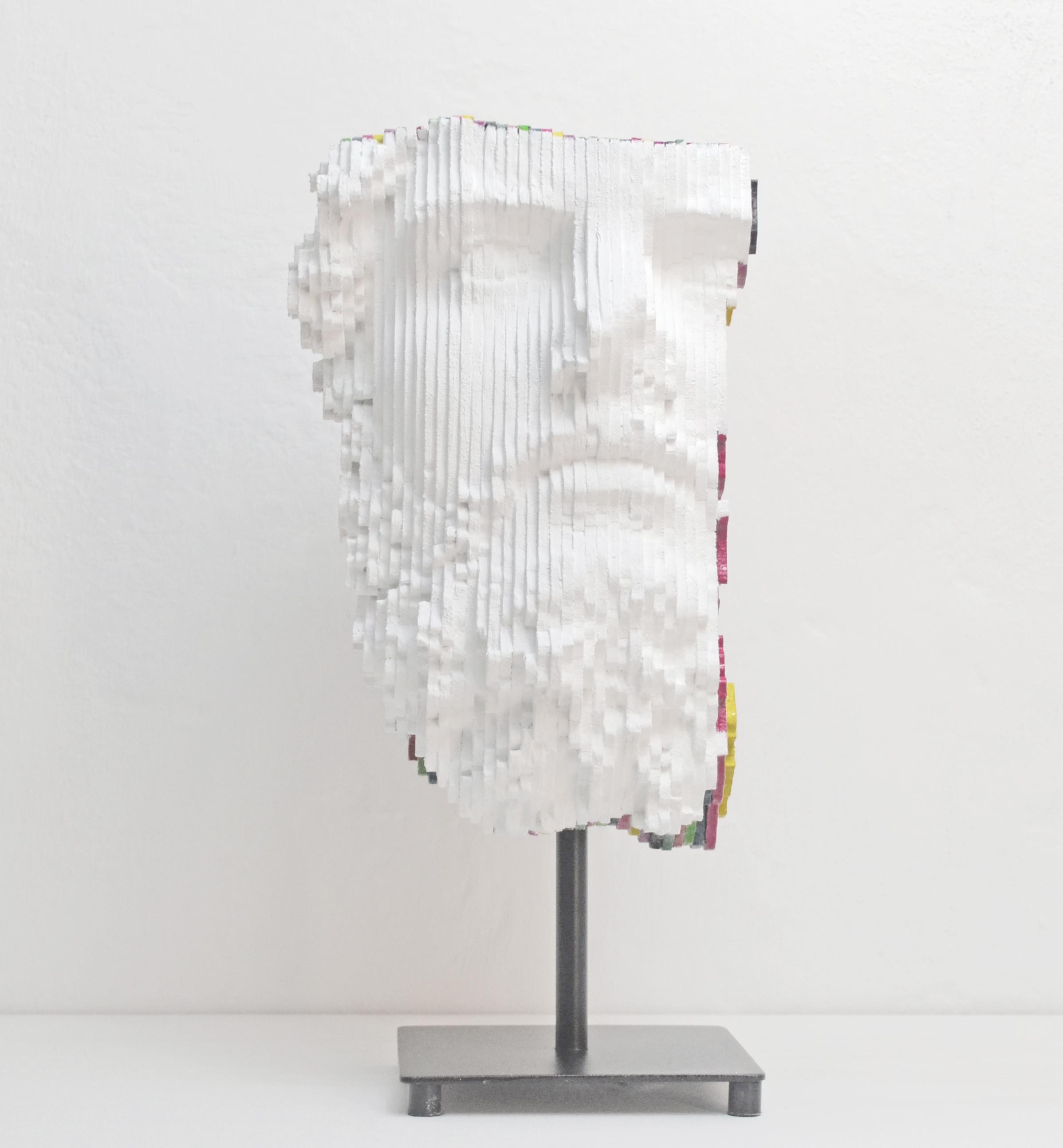 Daniele Fortuna, Half Colormination, drvo_wood, 26x17x25cm, 2017