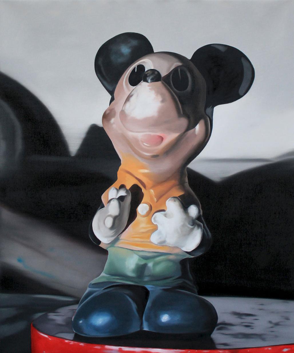 Martina Grlić, Mickey, 120x100cm, oil on canvas, 2014