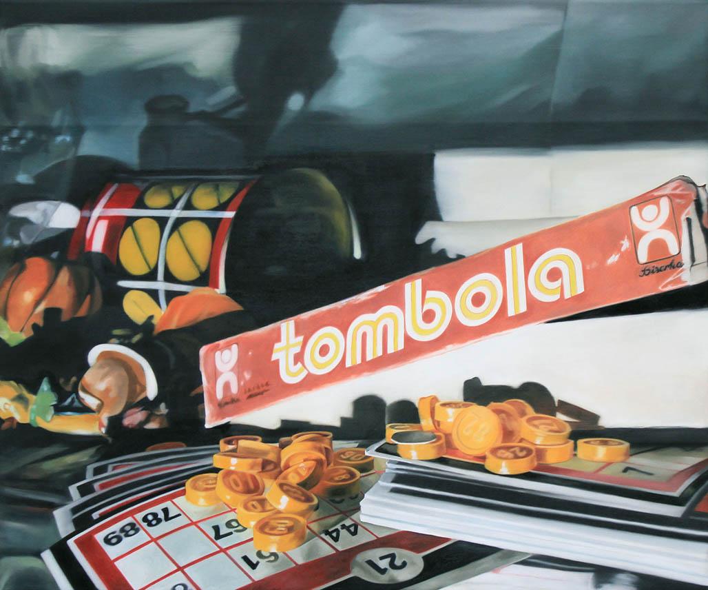 Martina Grlić, Tombola, 100x120cm,oil on canvas, 2013