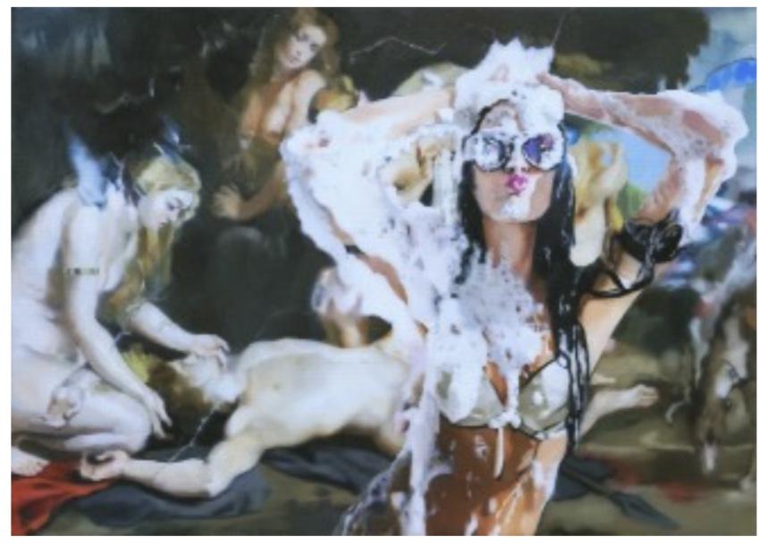 Milano Exibition Zen 2018 - Party (Rubens), 2018. ulje na platnu, 50x70 cm
