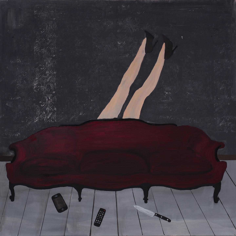 Paulina Jazvić, I am fine, oil and acrylic on canvas,150x150cm, 2015