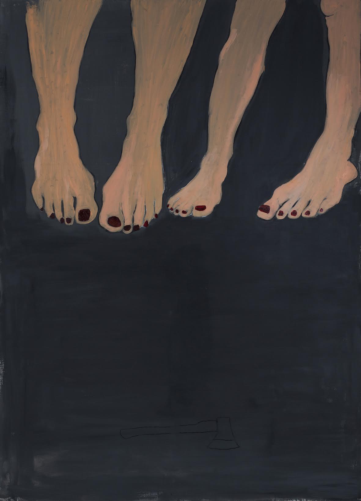 Paulina Jazvić, Legs, oil and acrylic on canvas, 130x180cm, 2015