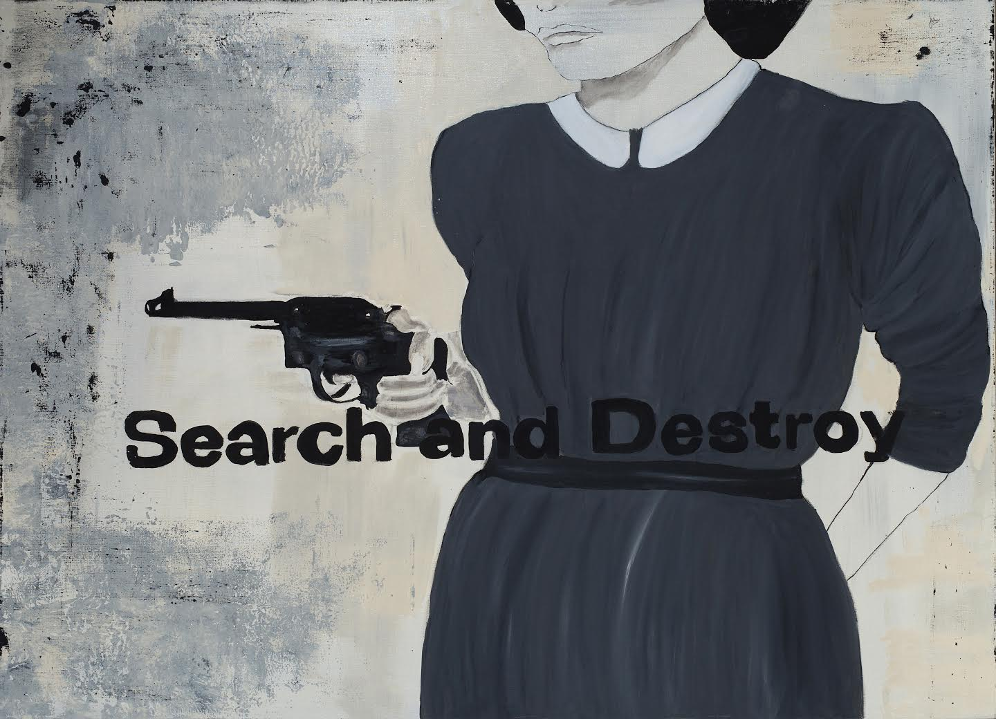 Paulina Jazvić, Search and Destroy, oil and acrylic on canvas, 180x130cm, 2015