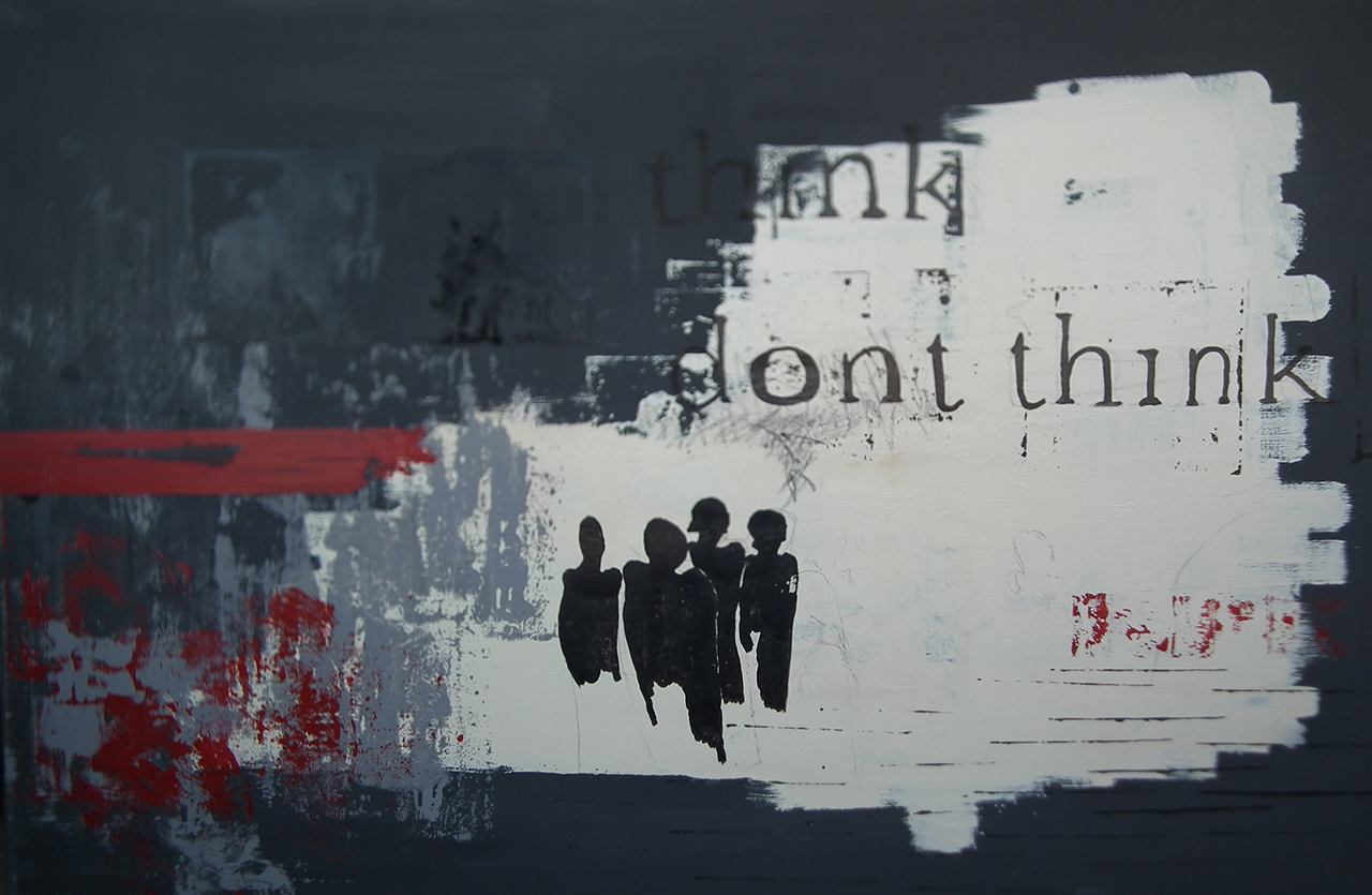 Paulina Jazvić, Think, do not think, 150x100cm, oil and acrylic on canvas, 2014