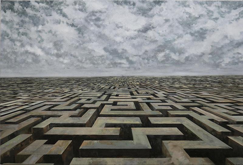 Seabastijan-Dracic-Labirint-ulje-na-platnu-150x100cm-2019