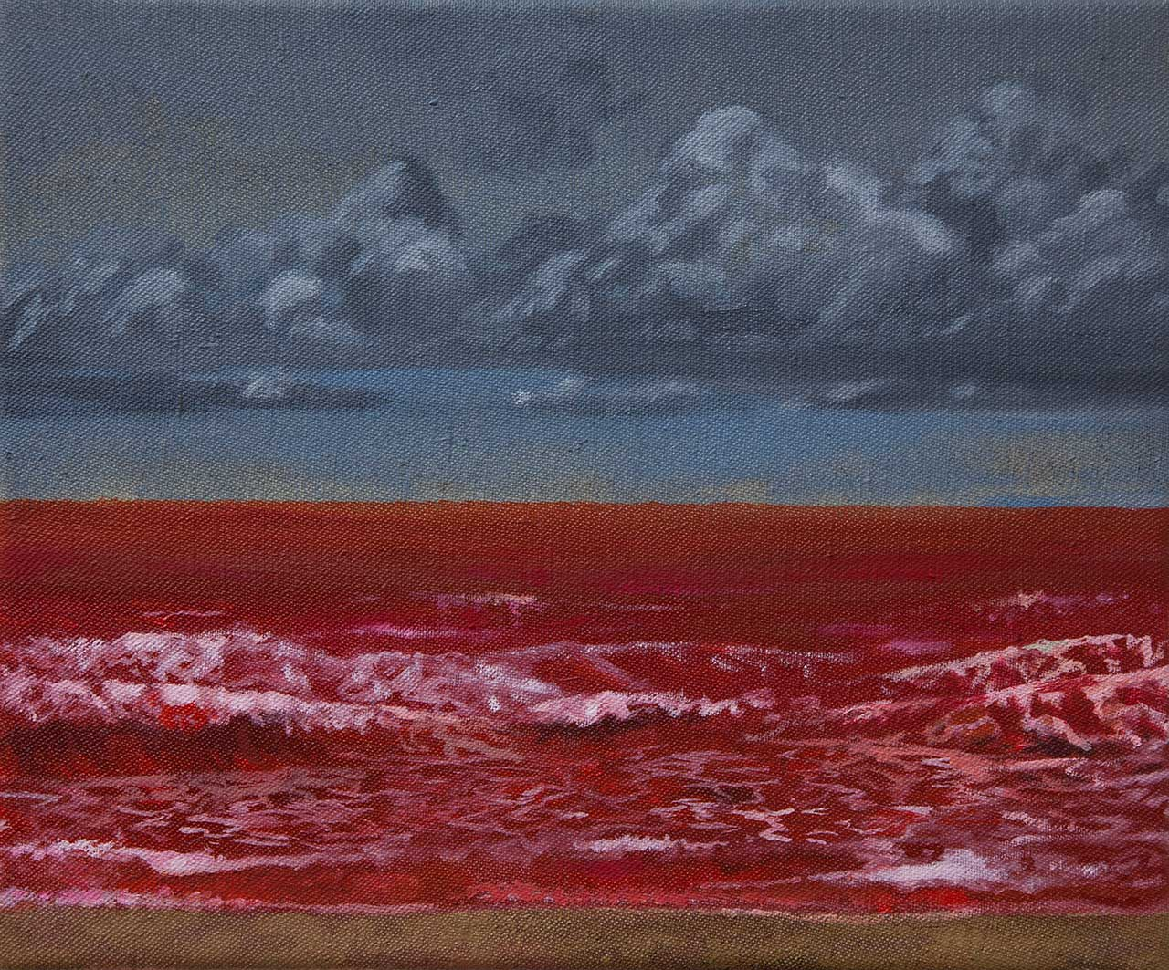 Sebastijan Dračić, Red Sea, 25x30cm, oil on canvas, 2015