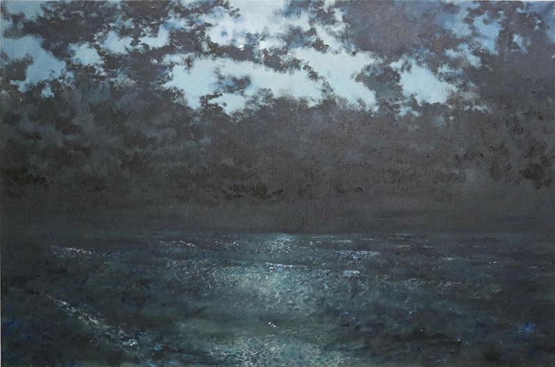 Sebastijan Dračić,  No name, 2019. oil on canvas 150 x 100cm