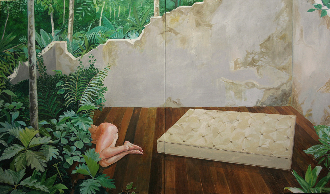 Sebastijan Dračić, Painting about sadness, 2008/2009, oil on canvas, 178x305 cm