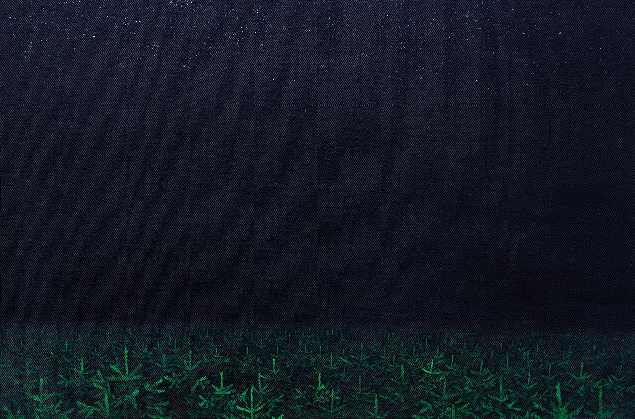 Sebastijan Dračić, The beginning and the end of the world, 40x60cm, oil on canvas, 2012.