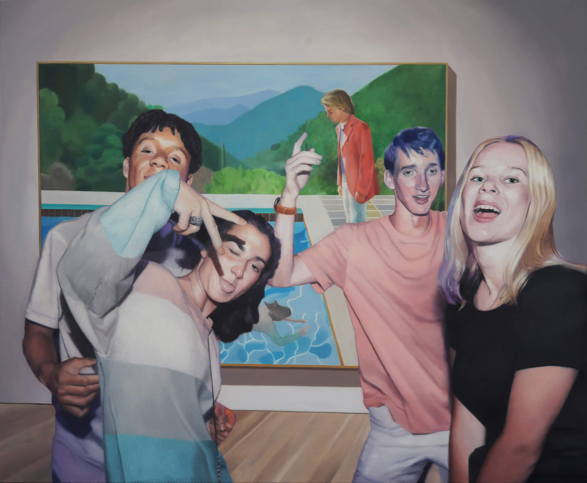 Stjepan-Šandrk-Party-Hockney-150x180cm-oil-on-canvas-2019.