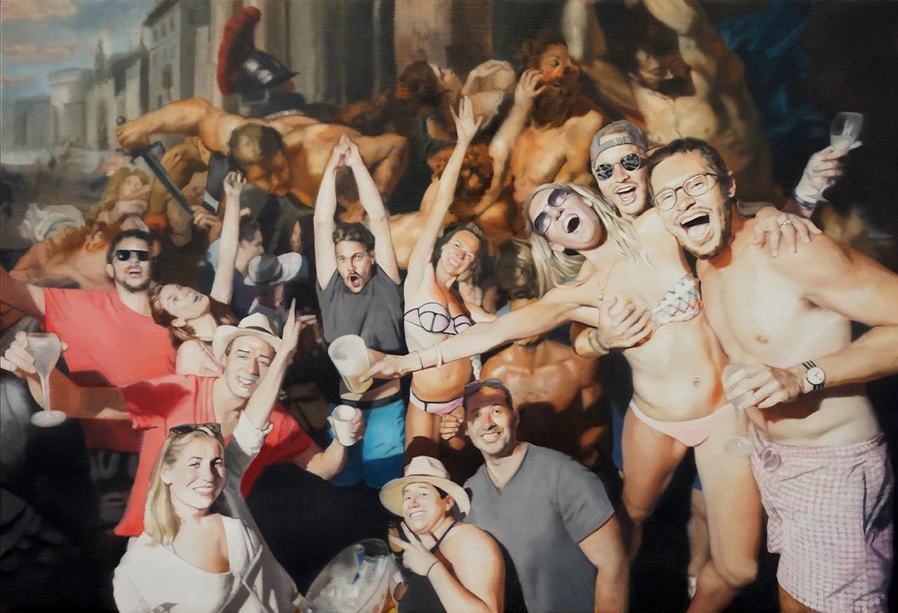 Stjepan-Sandrk-Party-ulje-na-platnu_oil-on-canvas-100x140cm-2018