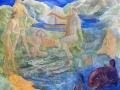 Noć u planini, snovi, 2014., ulje na platnu, 100x120cm