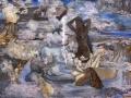 Na terasama Jeruzalema, Šeherezada priča priću, 2014., ulje na platnu, 100x120cm
