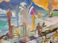 Žuto nebo, srteni brodolom, 2014., ulje na platnu, 100x70cm